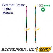 BIC® Evolution Metallic Digital ECOlutions® Eraser potlood