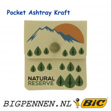 BIC® Pocket Ashtray Kraft