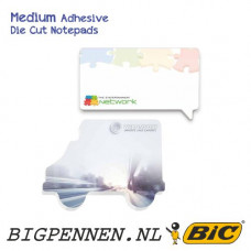BIC® ECOlutions® Medium Adhesive Die Cut Notepads