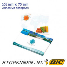 BIC® ECOlutions® 101 mm x 75 mm Adhesive Notepads