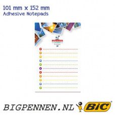 BIC® ECOlutions® 101 mm x 152 mm  Adhesive Notepads