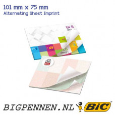 BIC®  101 mm x 75 mm Alternating Sheet Imprint