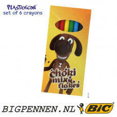 BIC® Kids Plastidecor® set of 6 Crayons