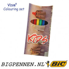 BIC® Visa® set of 6 felt pens